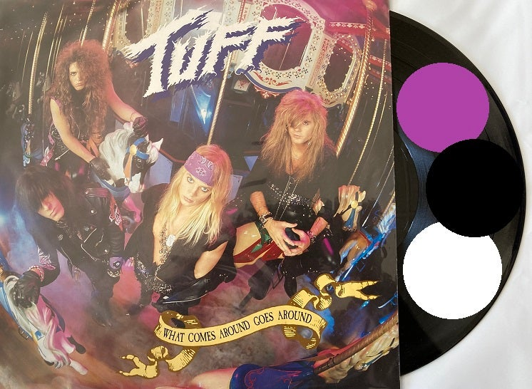 """Image of Tuff -NEW- 3 Vinyl Set """"What Comes Around Goes Around"""" Remastered 2021 - SIGNED by Stevie Rachelle"""