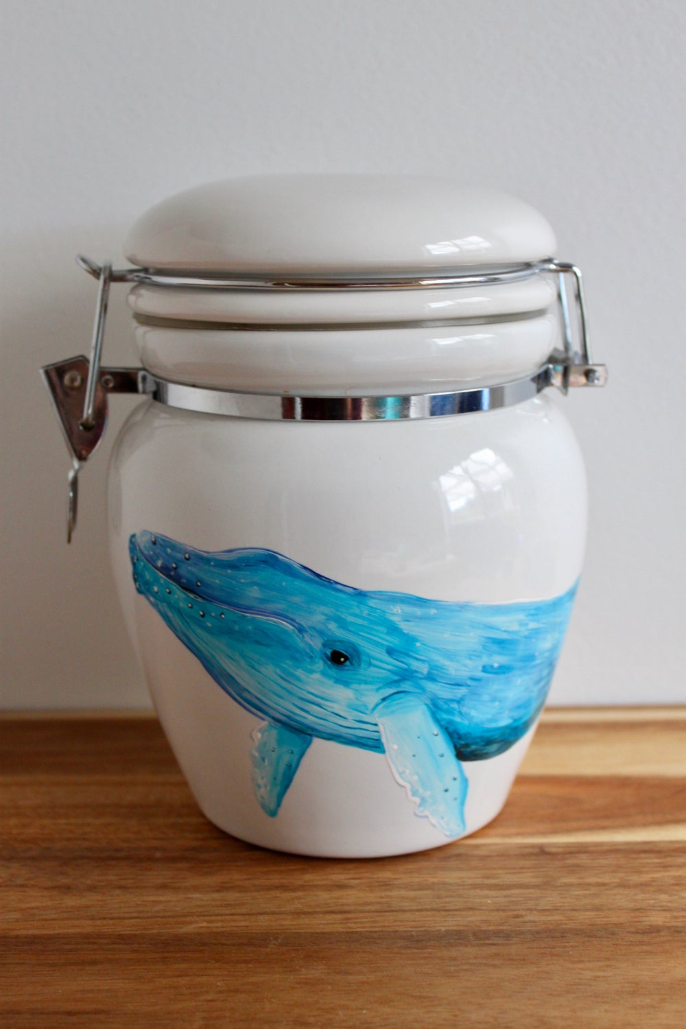 Humpback Whale Ceramic Canister