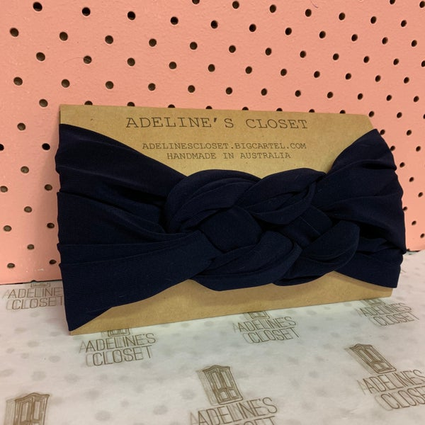Image of Navy Headwrap