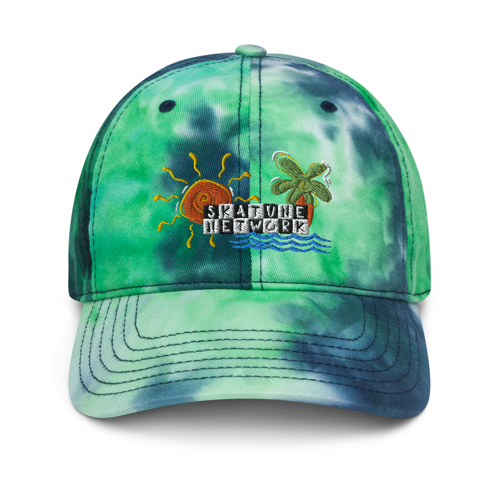 Image of Greetings from Ska Shores | Ocean Tie-Dye Dad Hat (PREORDER - SHIPPING IN JUNE)