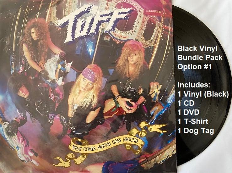 "Image of TUFF-Vinyl Bundle-  ""What Comes Around Goes Around"" Includes Black Vinyl, CD, DVD, Tshirt & Dog Tag"