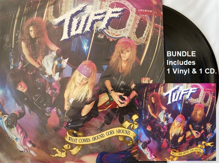 """Image of Tuff -Vinyl & CD- """"What Comes Around Goes Around"""" Remastered 2021, includes Black Vinyl & the CD"""