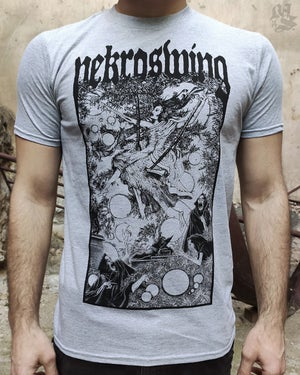 Image of NEKROSWING<br/> Sport Grey Variant<br/> <small>Hand Printed Collab Tee</small>