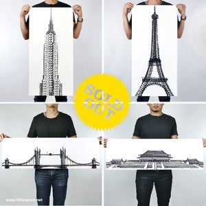 Image of Tyre Tracks series - New York, Paris, London & Beijing