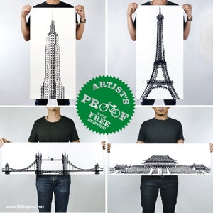 Image of Tyre Tracks series AP - New York, Paris, London & Beijing