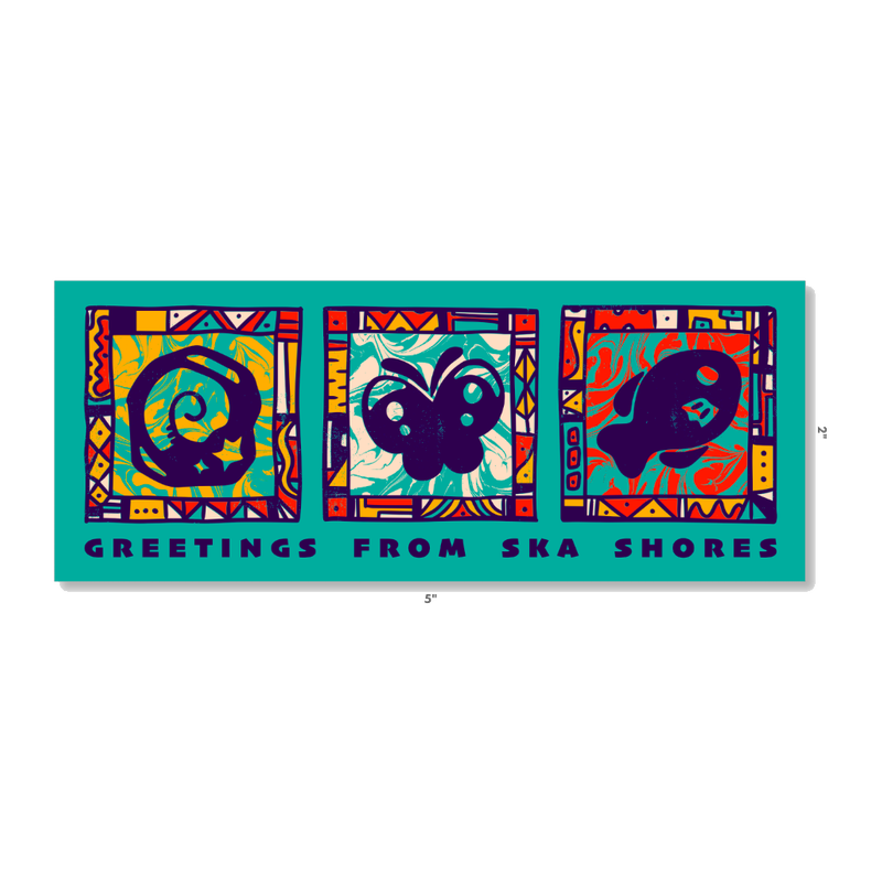 Image of Greetings from Ska Shores | Bumper Sticker (5 x 2 inches)