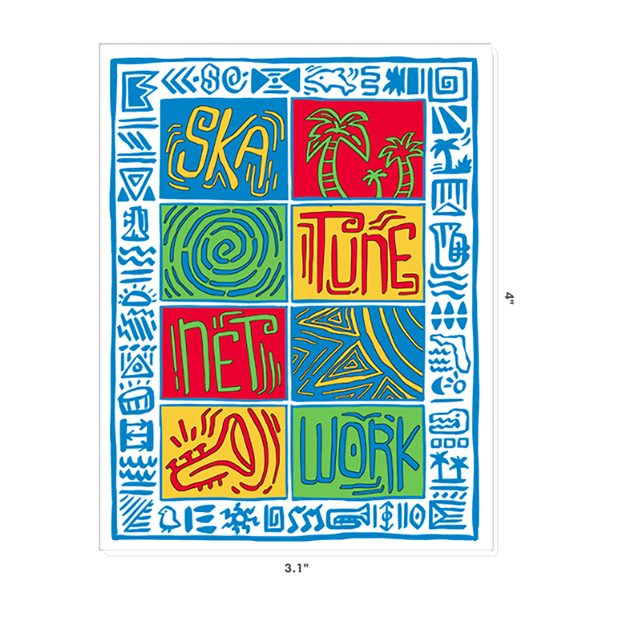 Image of Greetings from Ska Shores | Island Vibes Sticker (3 x 4 inches)