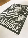 Pablo Picasso, never got called. Hand Made. Original A3. linocut print. Limited and Signed. Art.