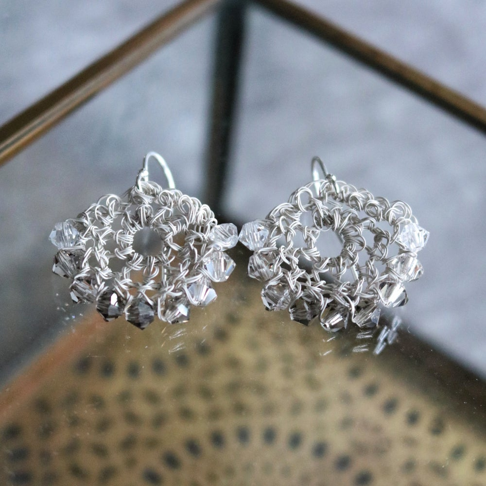 Image of CRESCENT EARRINGS - Vintage Ivory Fade