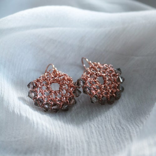 Image of CRESCENT EARRINGS - Sepia Rose