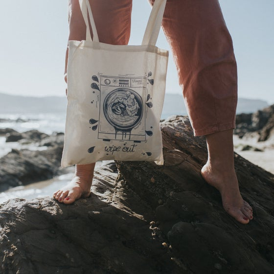 Image of Wipe Out tote bag