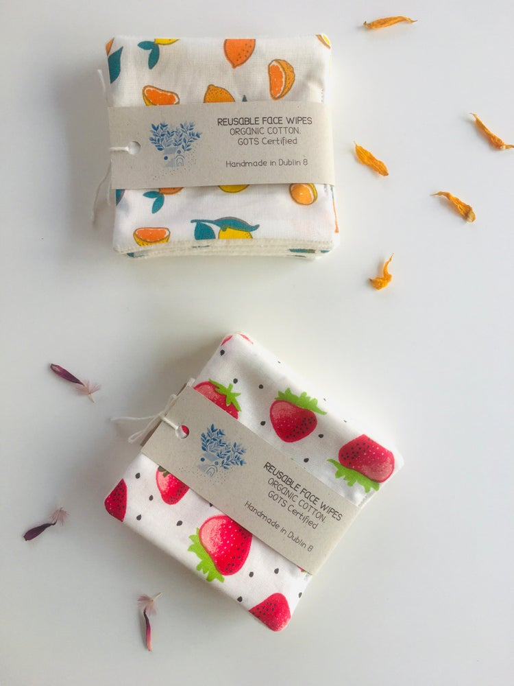 Image of PRE-ORDER Summer Edition Organic Cotton Reusable Face Wipes