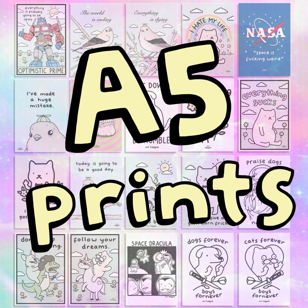 Image of The A5 prints.