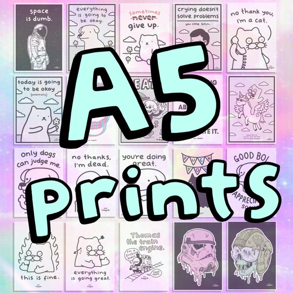 Image of The A5 prints..