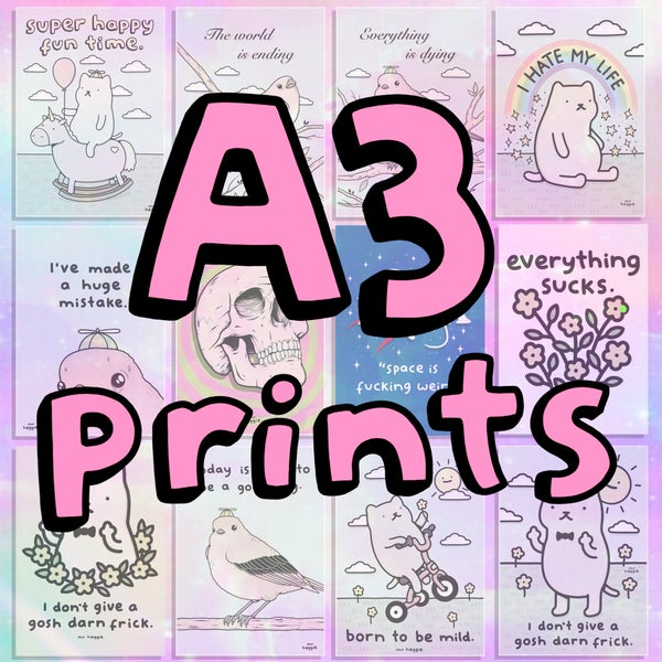 Image of The A3 prints..