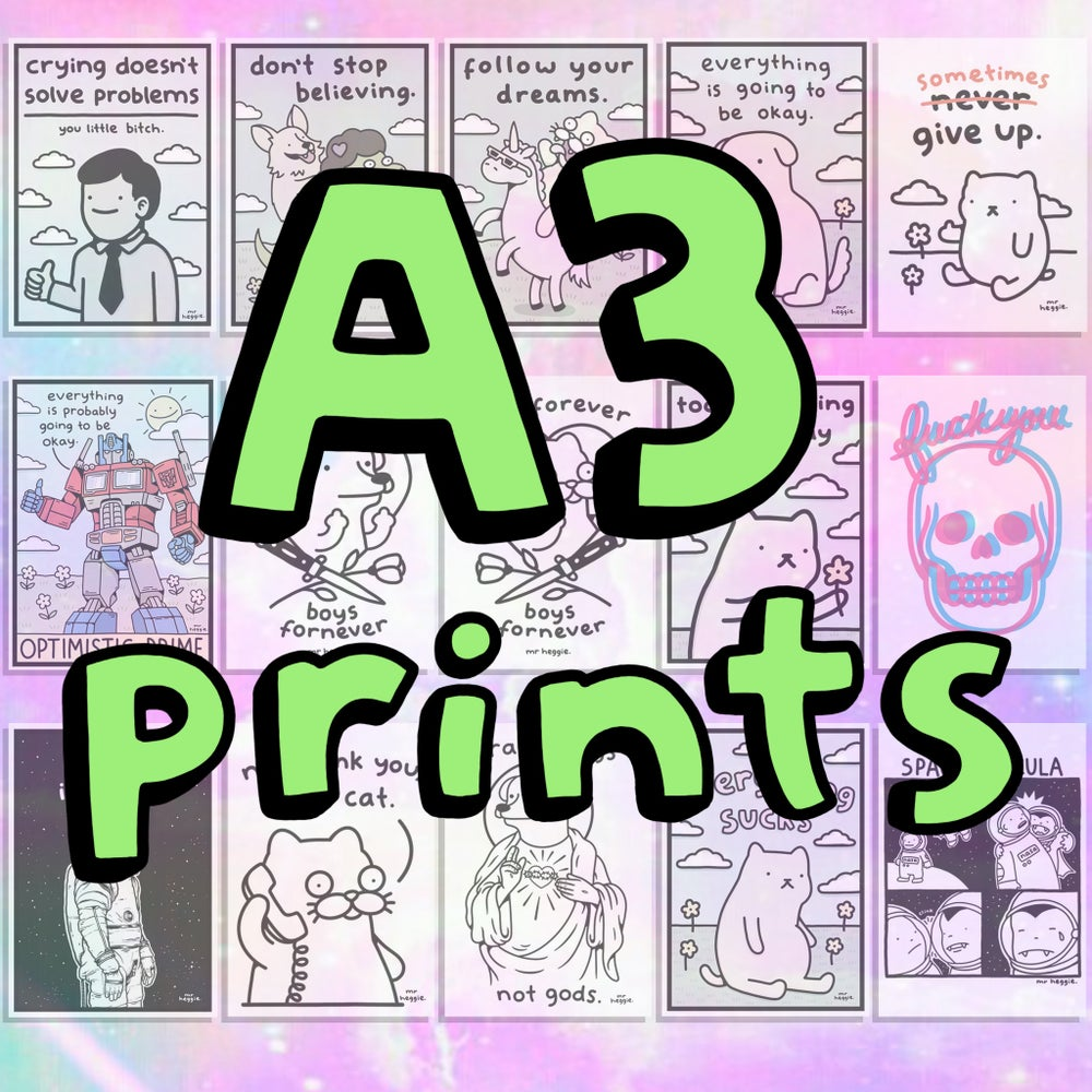 Image of The A3 prints...