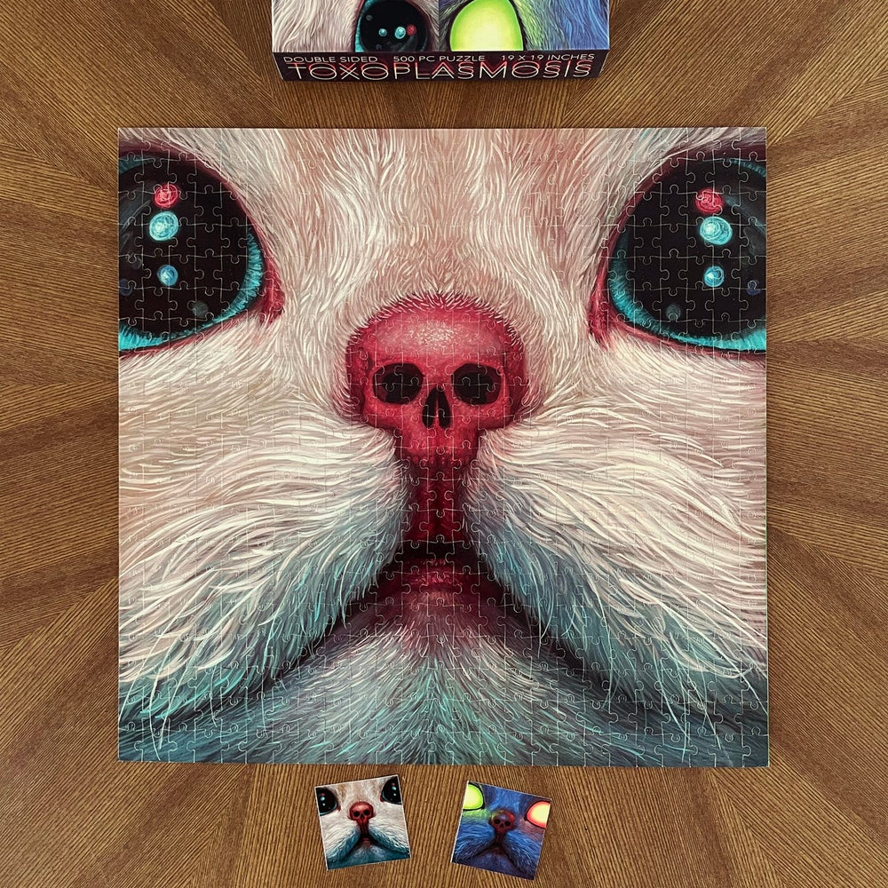"""Image of """"Toxoplasmosis"""" Double Sided 500 Piece Puzzle"""