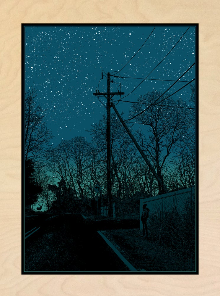 "Image of ""NIGHT WALKERS"" - WOOD PANEL"