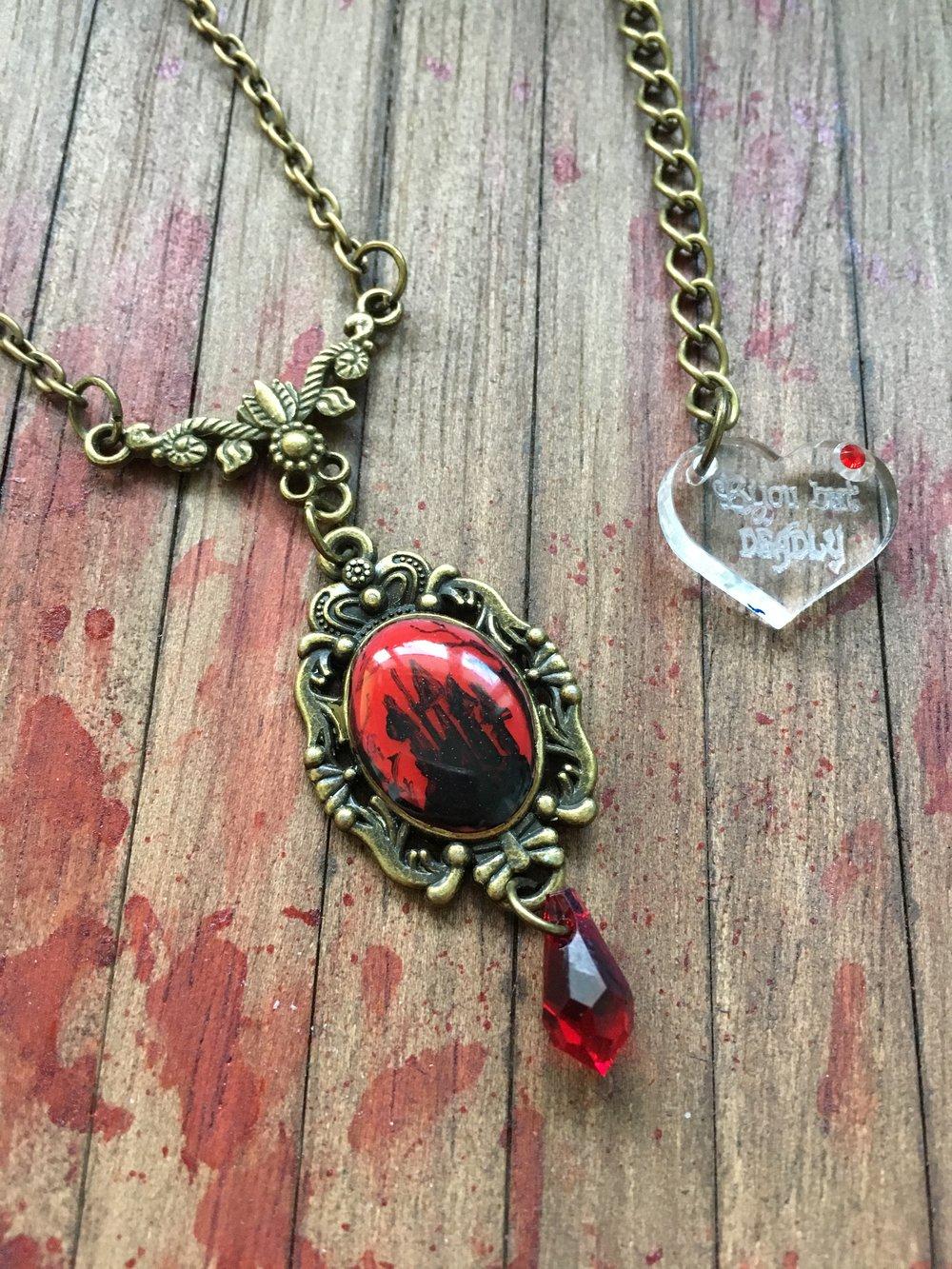 Vampire's Castle Cameo Necklace