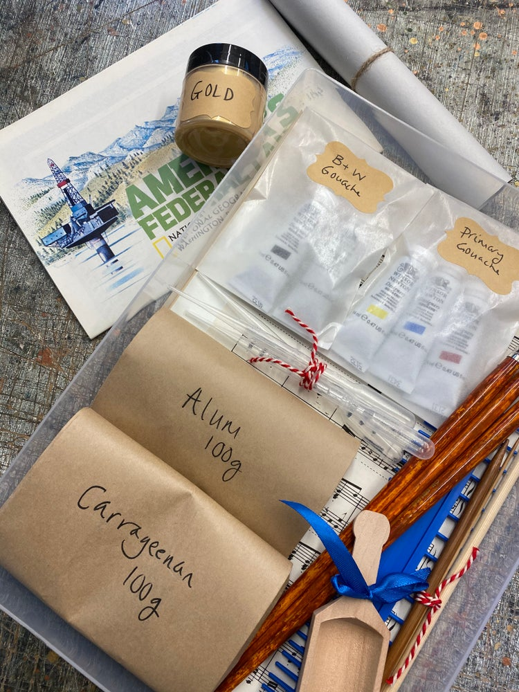Image of Comprehensive Marbling Kit - contains everything you need to marble! ONLY 5 AVAILABLE