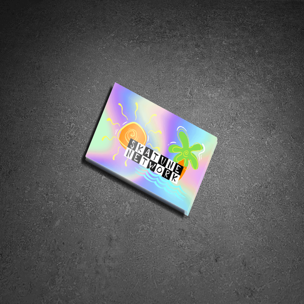 Image of Greetings from Ska Shores   Holographic Sticker (4 x 2.5 inches)