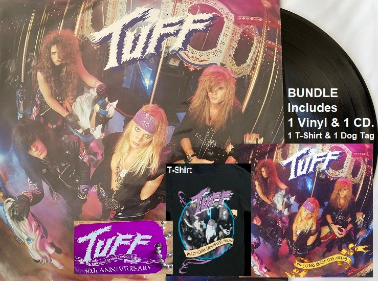 """Image of Tuff -Vinyl Bundle-  """"What Comes Around Goes Around"""" Includes Black Vinyl, CD, T-shirt & a Dog Tag"""