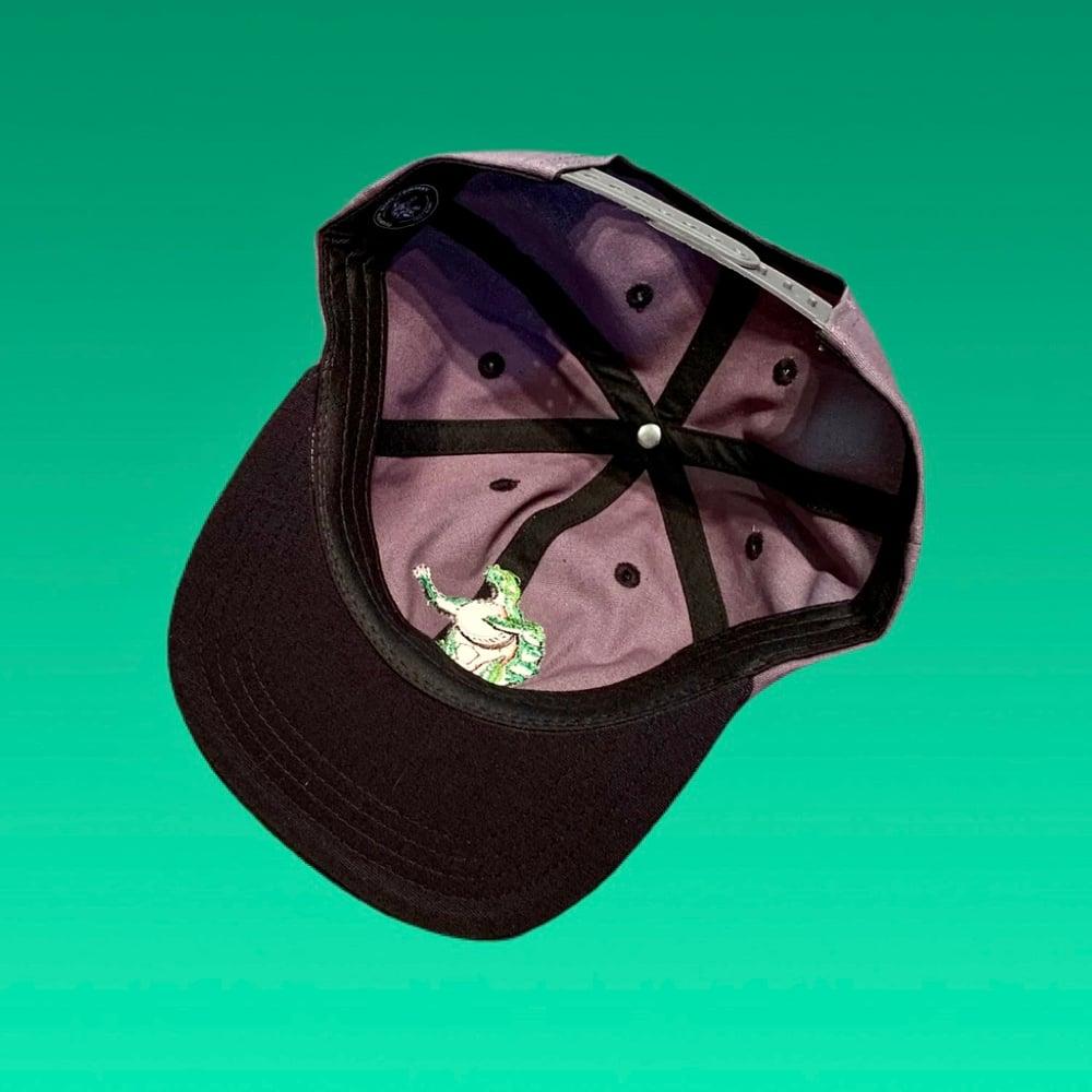 Image of Terrapin 100% Grey & Black Hemp Snapback Hat!