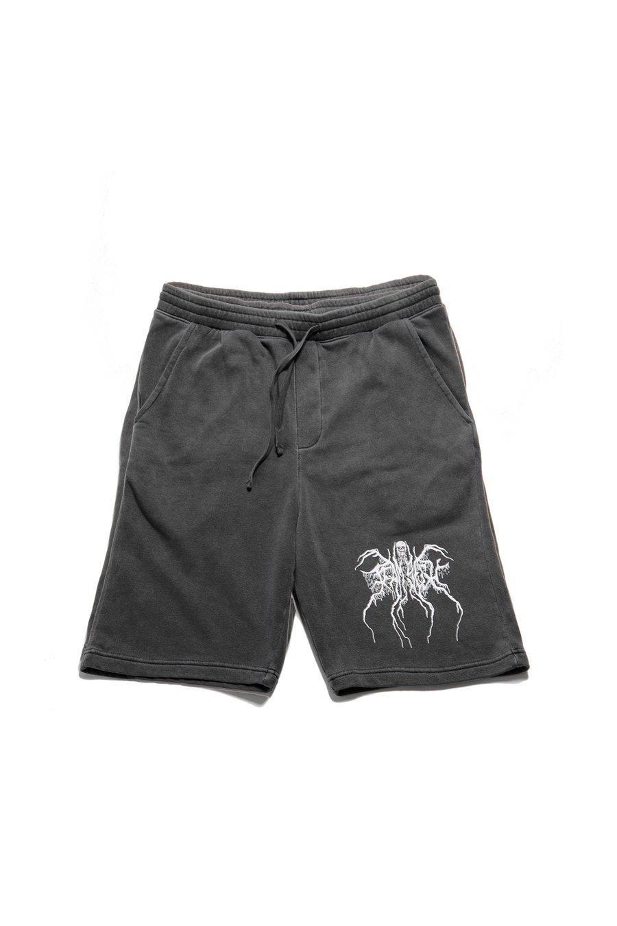 "Image of ""Deadthrone""  fleece shorts"
