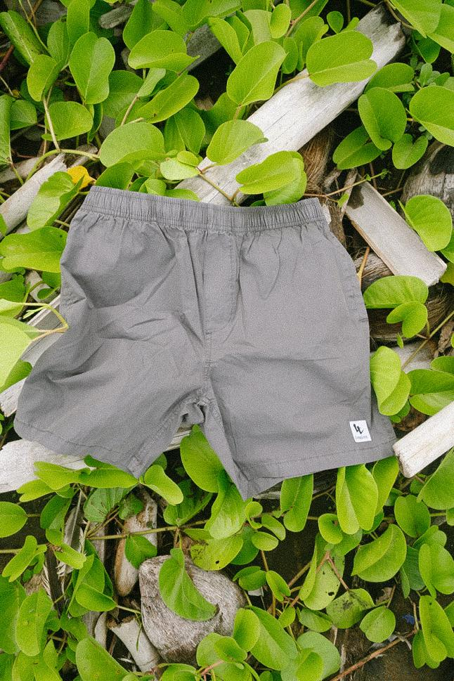 Image of Grey & Red Long Live Beach Shorts