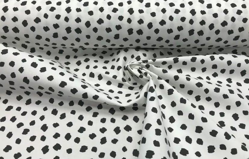 Image of Personalised Chest - Cushion Top - Monochrome (Dalmatian) Fabric ***DELIVERY AFTER 1st OCTOBER***