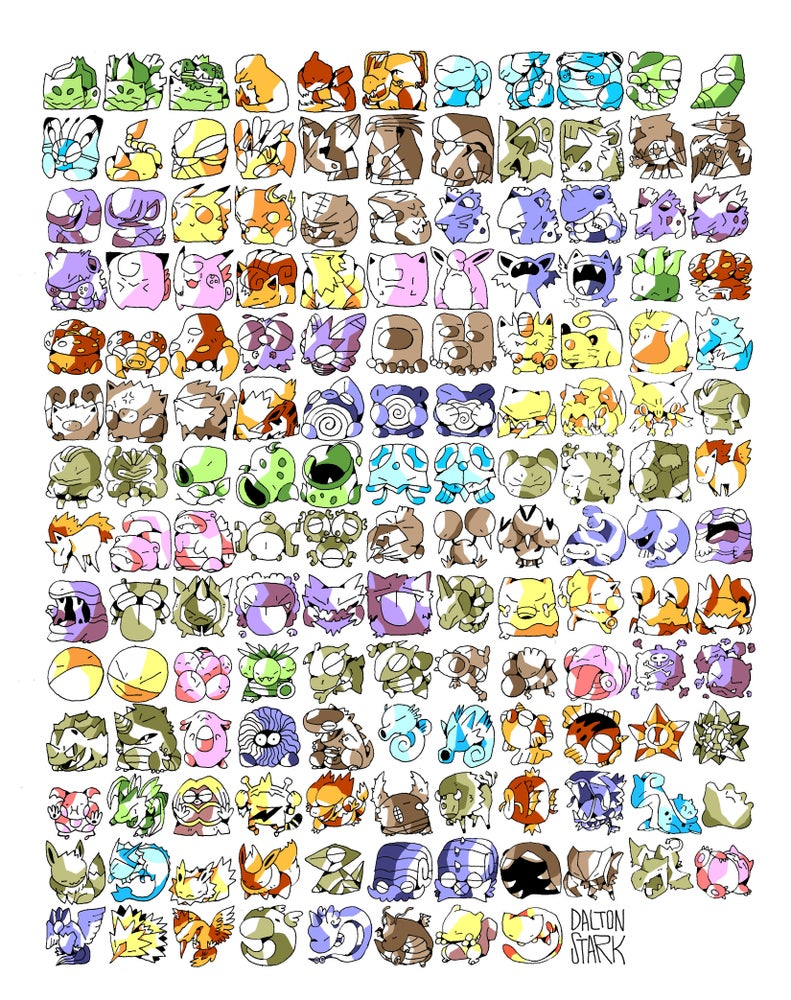 Image of 151 Pokemon Poster