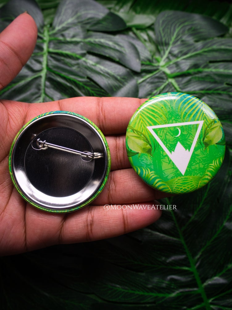 Image of Moon Wave Atelier Logo Pin Buttons