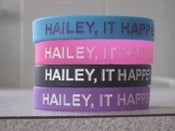 "Image of ""Hailey, It Happens"" Wristbands"