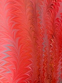 Marbled Paper Flame Pattern Collection on Red - 1/2 sheets
