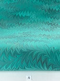 Marbled Paper Flame Pattern Collection on Grey & Marrs Green - 1/2 sheets