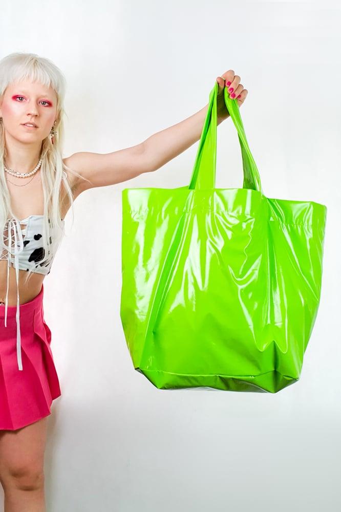 Image of Green PVC GIGA purse