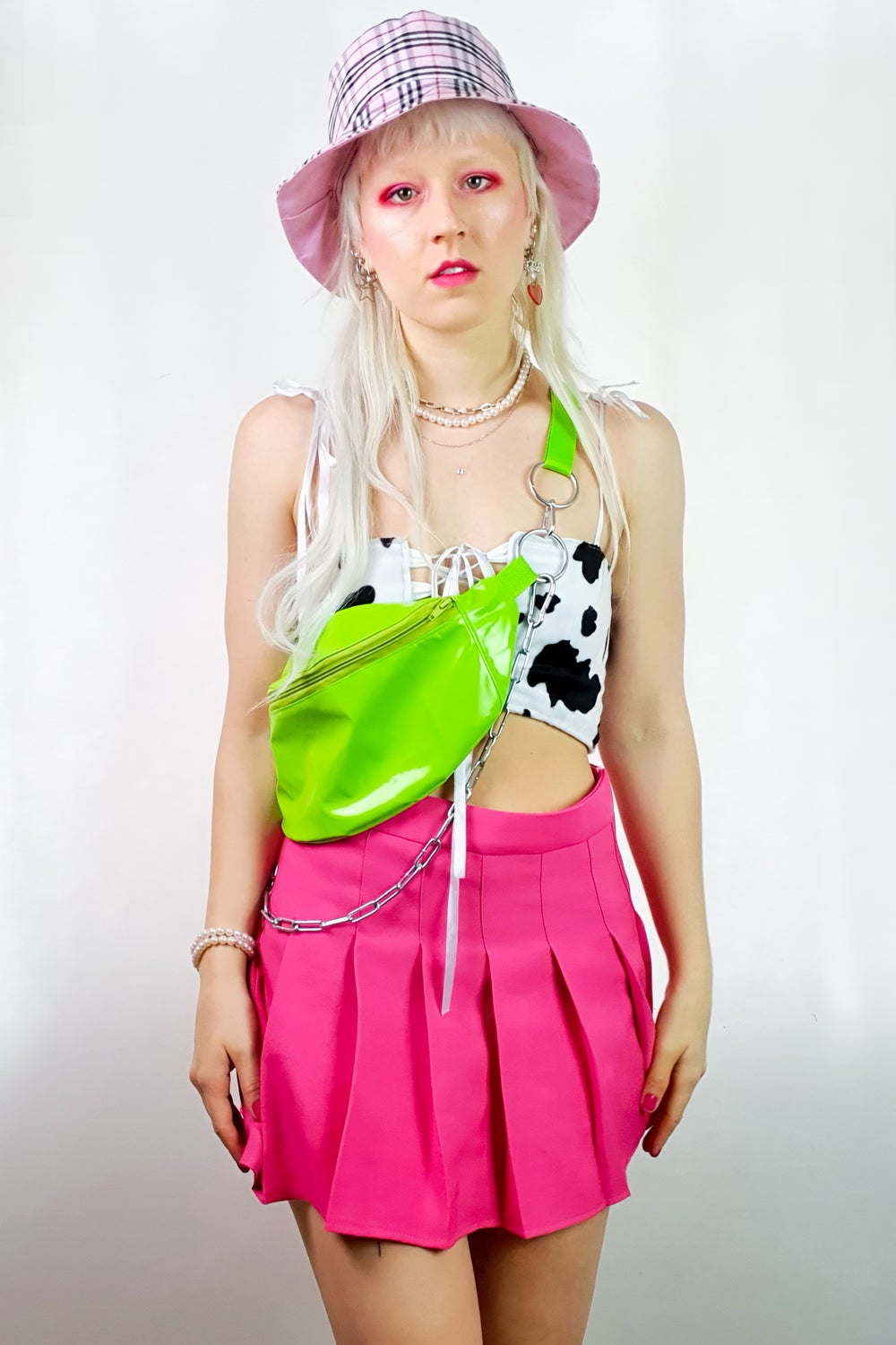 Image of Green PVC fanny pack