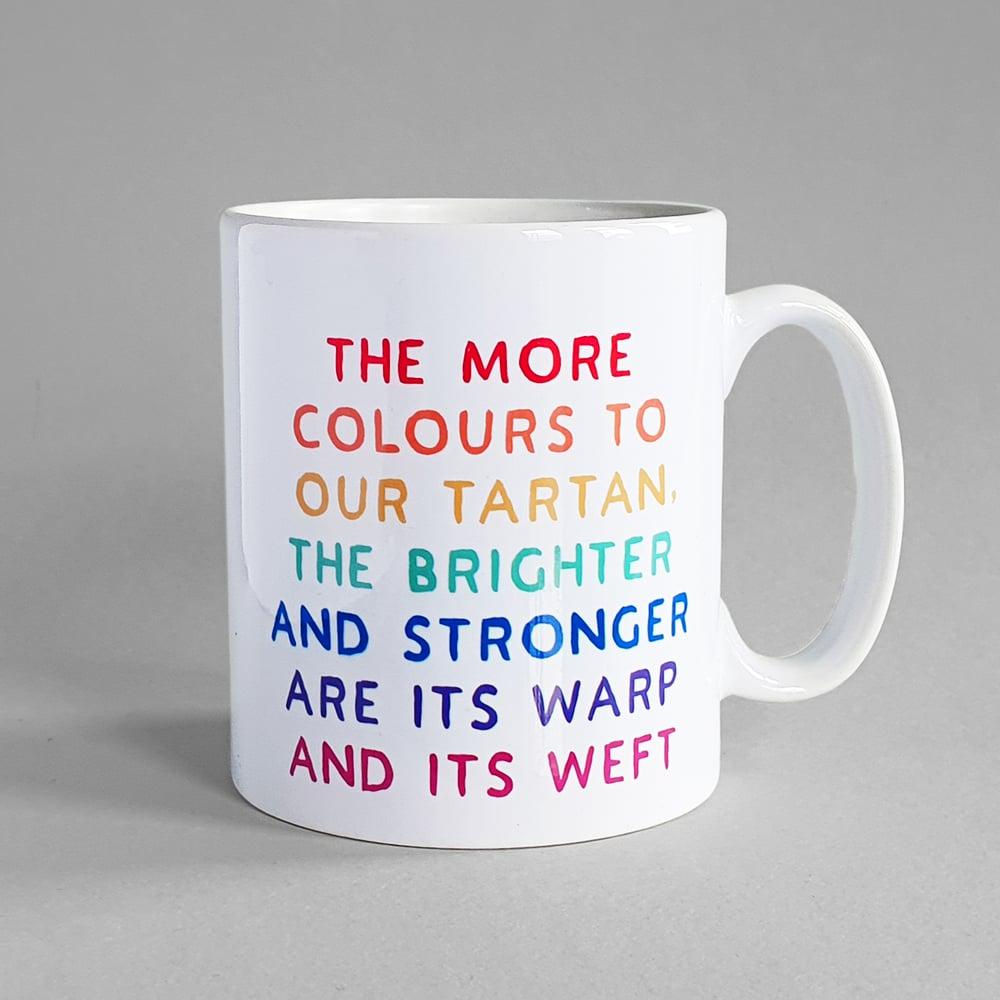 Image of Colours to our tartan (Mug)
