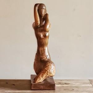 Ancienne sculpture sur bois sirène signé A.Lutenbacher