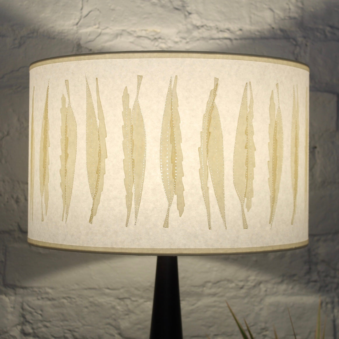 Image of Double Print Long Leaf Lampshade