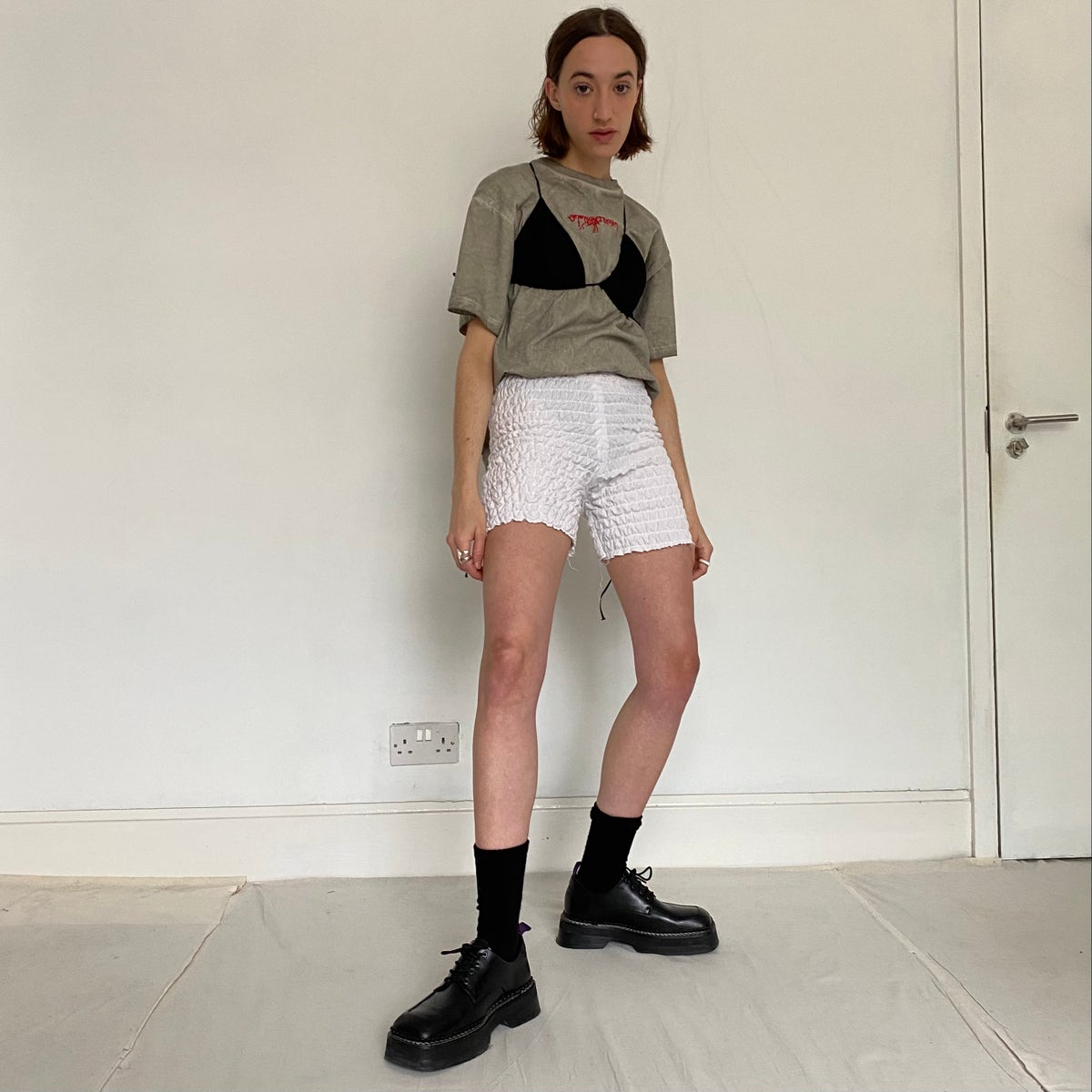 Image of RUCHED SHORTS