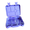 Large leakproof bento lunch box - 6 compartment purple