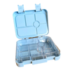 Large leakproof bento lunch box - 6 compartment sky blue