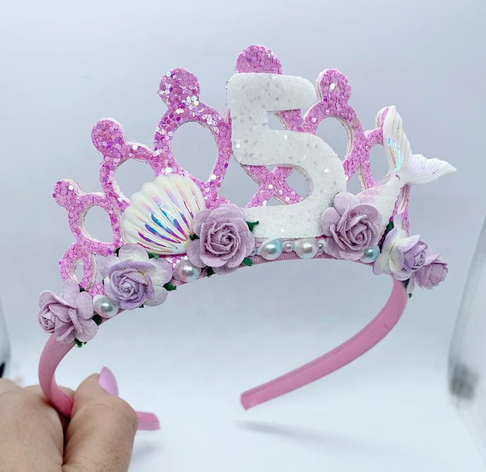 Image of Pink and lilac mermaid Birthday Tiara