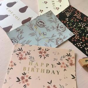 Image of Carte Happy Birthday Black ( avec dorure)