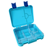 Large leakproof bento lunch box - Convertible blue
