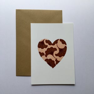 Image of Carte Coeur de wax