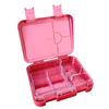 Large leakproof bento lunch box - Convertible pink