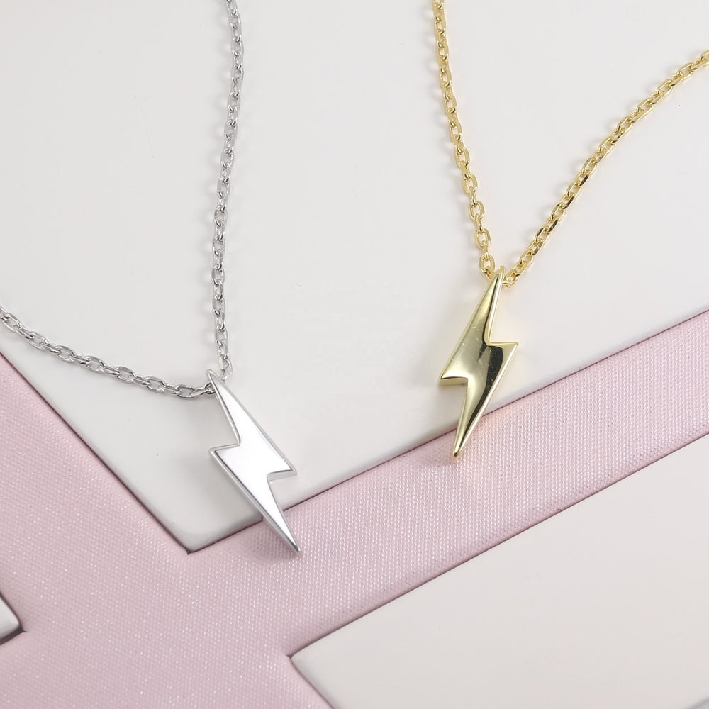 Lightning Bolt Iconic Necklace (925 Silver)