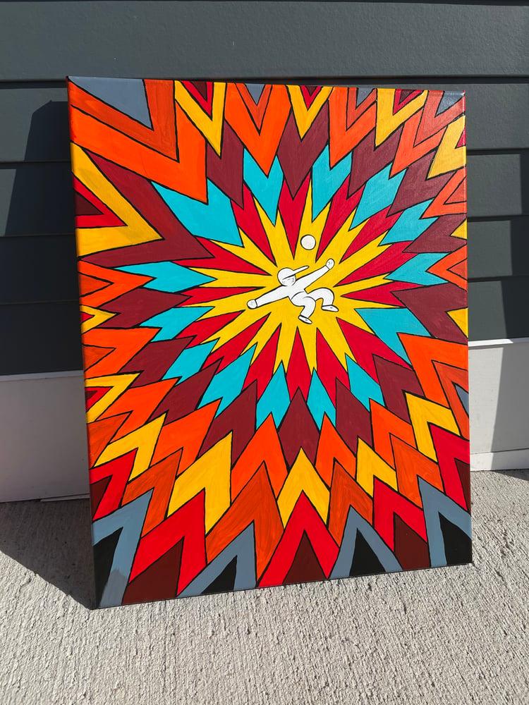 Image of Throw and Burst 18x24 inch Yo-Yo canvas